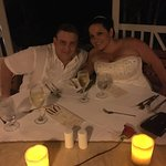 Our candlelight dinner after our wedding... surf and turf was amazing and we were told that the