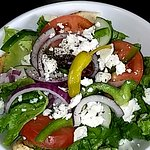 Great Lunch! Salad and Gyro.