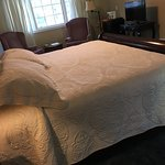 This photo does not show how large the room is but does show the come bed!