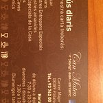 Tarjeta visita Restaurante