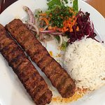 Ground Lamb Shish kebob entree