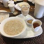 Oatmeal and kicker for breakfast
