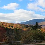 Looking west from the patio, toward Mount Mansfield.