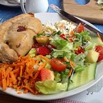 Cornish Pasty with three salads