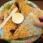 Quesadillas that fill a plate