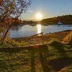 Sun setting at the Nonantum Resort, Kennebunkport, ME...