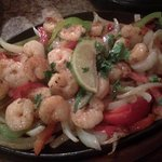 Shrimp Fajitas, lots of food!