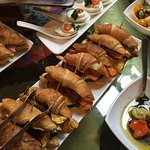 Beautiful breakfast buffet