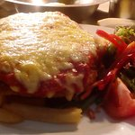 Chicken Parma form our fully  licensed restaurant