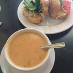 The crab melt and seafood soup ---- deeeeeeelicious!