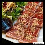Sugerencia ;Tataki de Atun a la vinagreta de soja y miel