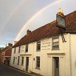 Lucky double rainbow over the Inn.