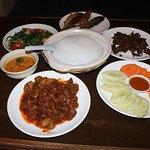 Brunei Ambuyat set at Aminah Arif Restaurant