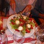 Salade chèvre- lardons.