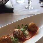 Arancini, lovely to share whilst enjoying the lovely bread which is served