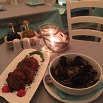 Mussels and Santorini Fried Meatballs