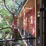 Balcony in courtyard