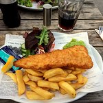 Cod and chips (looked better than it tasted)