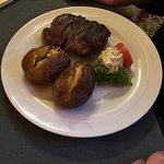 Rump Steak with baked potatoes