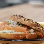 Our salmon bagel