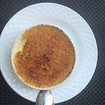 dessert du menu , crème brulée