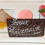 Dessert personnalisé - Pastilla tiède aux Amandes, Dattes et Miel, Déclinaison d'Orange