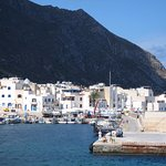 MARETTIMO HARBOUR VIEWED FROM THE SEA