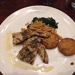 fish with mushroom risotto