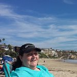 Just sunning with my husband at Corona Del Mar Beach, CA.