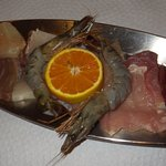 Tuna, trigger fish, squid, prawns...some of the foods to cook.
