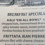 the menu description of the KALE'EM ALL BOWL