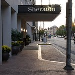 Front entrance to Sheraton Indianapolis City Centre (looking west)