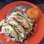 chicken enchiladas plate