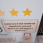 "Sign at the elevator ""encouraging"" a good TA review"