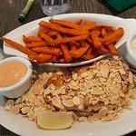 Sole Almandine and sweet potatoes
