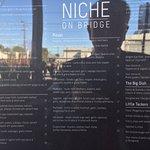 Menu for Niche - a bit reflective !