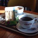 Having breakfast at Costa