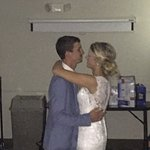 First Dance in the hotel's conference room!
