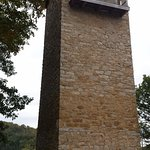 Shot Tower over the trail near Foster Falls