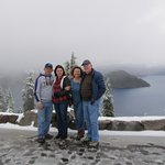 Our friends from Louisiana and we, amazed at the beauty and the SNOW!