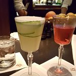 Gin & cucumber drink and Whiskey drink