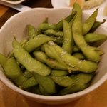 Edaname...just peel and eat, so healthy soy beans for you