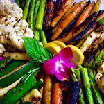 Roasted veggie platter