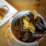 A big bowl of mussels at the Village Idiot in Lexington