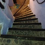 first light of steep stairs