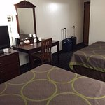 Our hotel room, double queen room, Super 8 Lee, Mass.