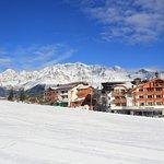 Skifahren vor dem Hotel
