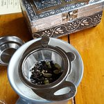 tea with a treasure chest