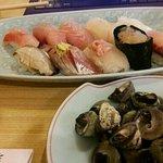 その時のお勧めの寿司と貝