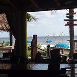 Sitting at Cabana's Bar